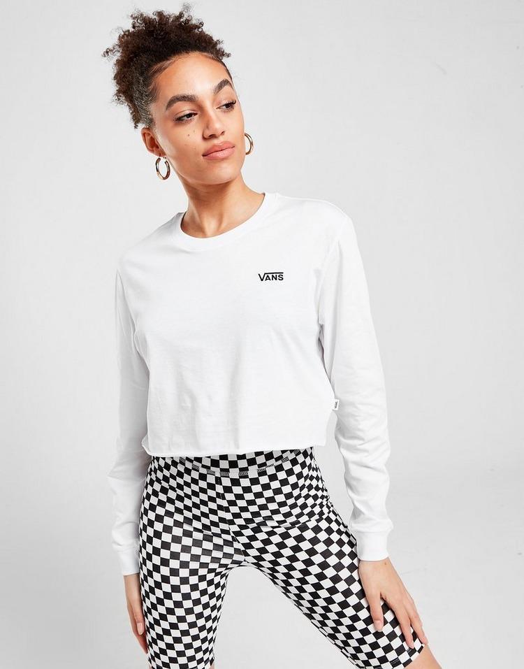 Vans Core Small Logo Long Sleeve Crop T-Shirt