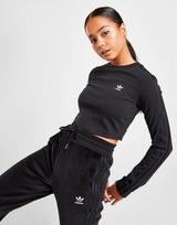 adidas Originals 3-Stripes Crop Long Sleeve T-Shirt