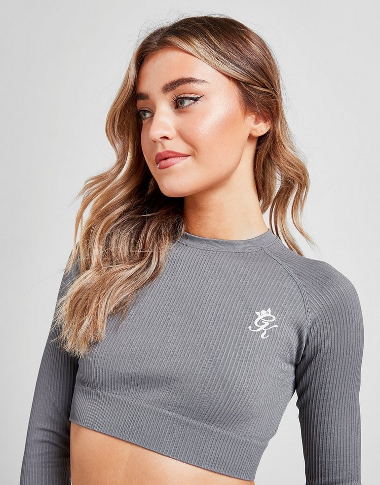 Gym King Ribbed Long Sleeve Crop Top