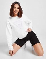GUESS Shine Triangle Logo Crew Sweatshirt
