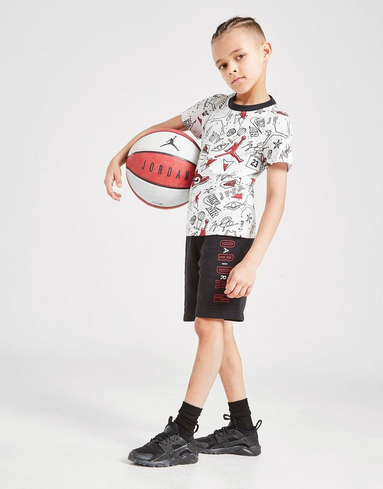 Jordan Flight All Over Print T-Shirt/Shorts Set Children