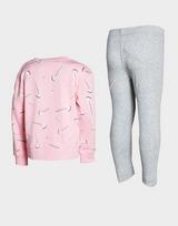 Nike Girls' Swoosh Sweatshirt/Leggings Set Children