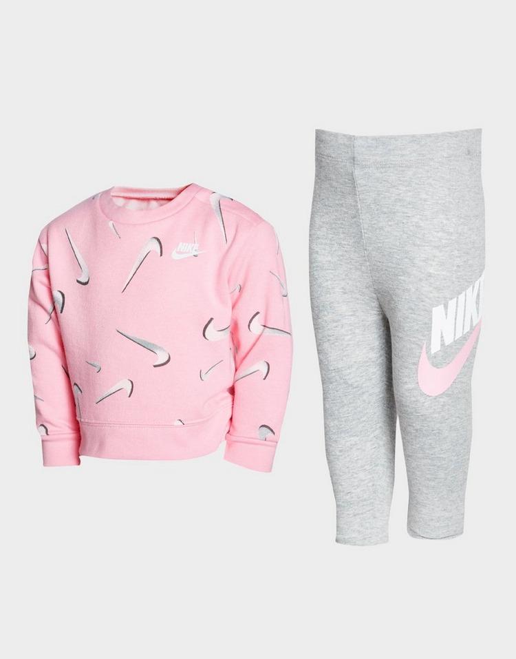 Nike Girls' Swoosh Crew Sweatshirt/Leggings Set Infant