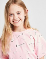 Nike Swoosh T-Shirt & Cycle Shorts Completo Bambina