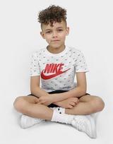 Nike Swoosh All Over Print T-Shirt/Shorts Set Children