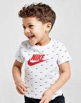Nike Swoosh All Over Print T-Shirt/Shorts Set Infant