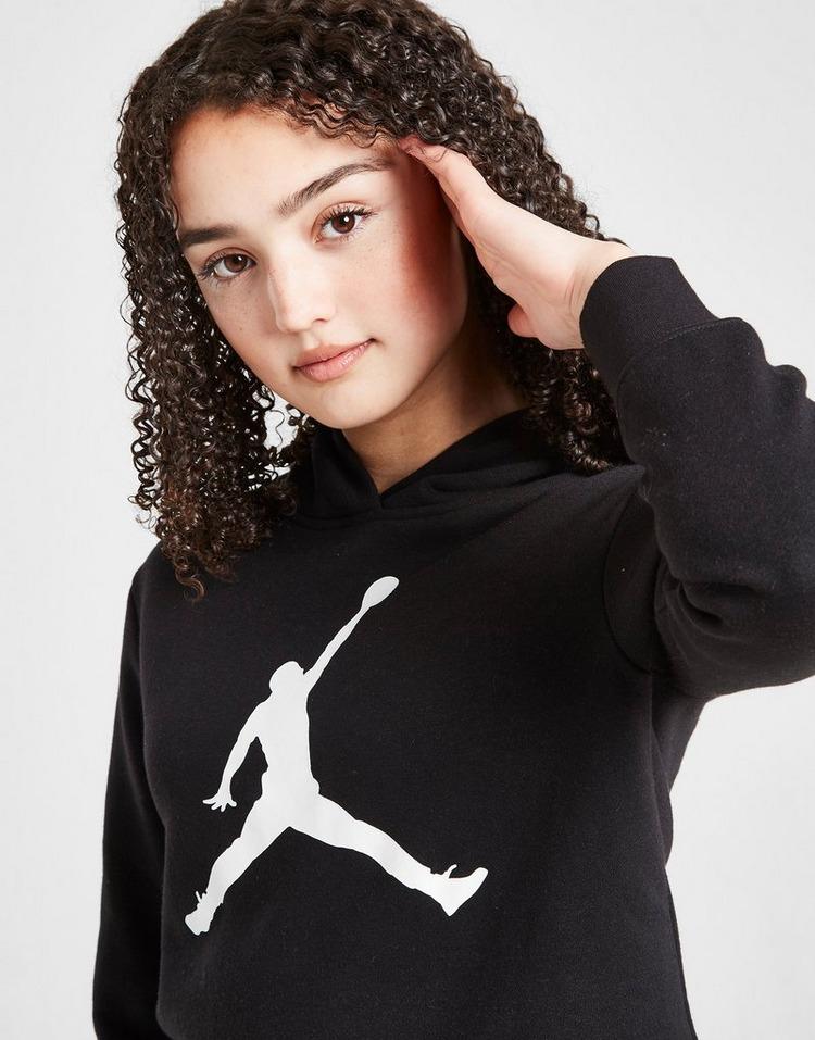 Jordan Girls' Logo Crop Hoodie Junior
