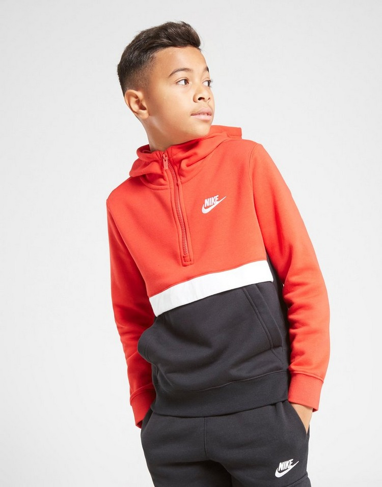 Nike Club 1/2 Zip Hoodie Junior