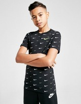 Nike Swoosh All Over Print T-Shirt Junior