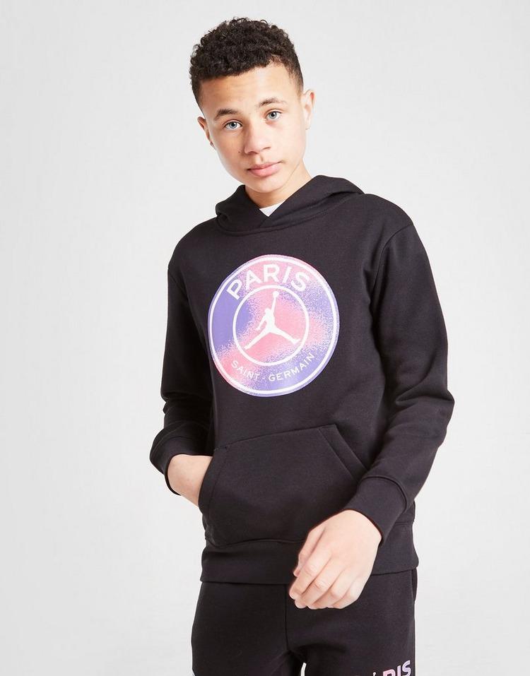 Jordan x Paris Saint Germain Black Cat Hoodie Junior