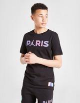 Jordan x Paris Saint Germain Black Cat T-Shirt Junior