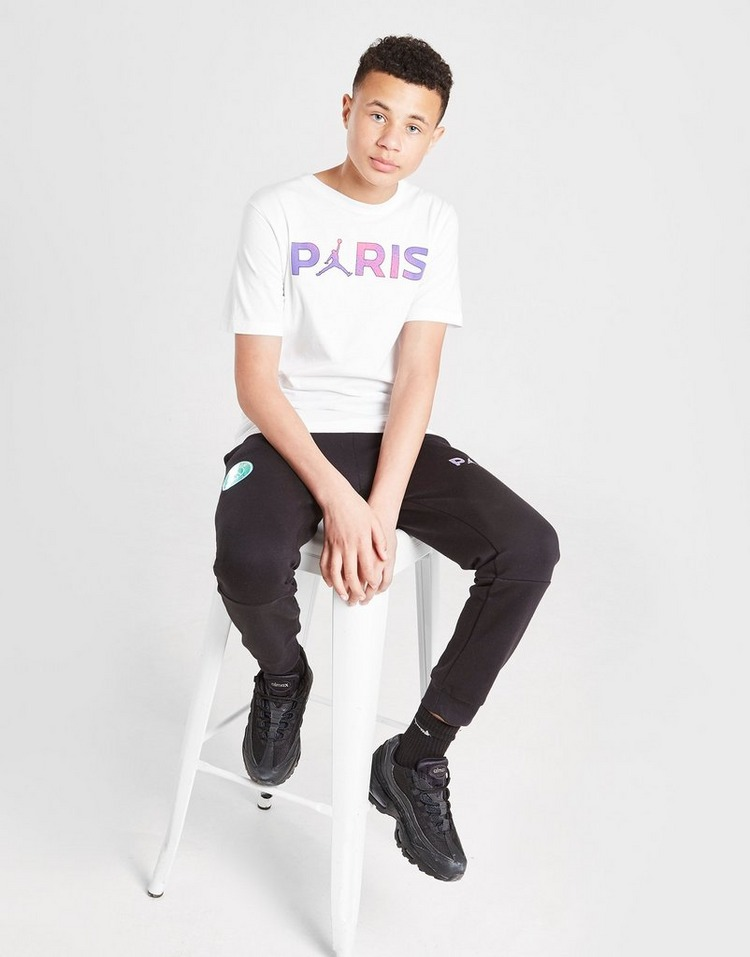 Jordan x Paris Saint Germain Black Cat T-Shirt Junior
