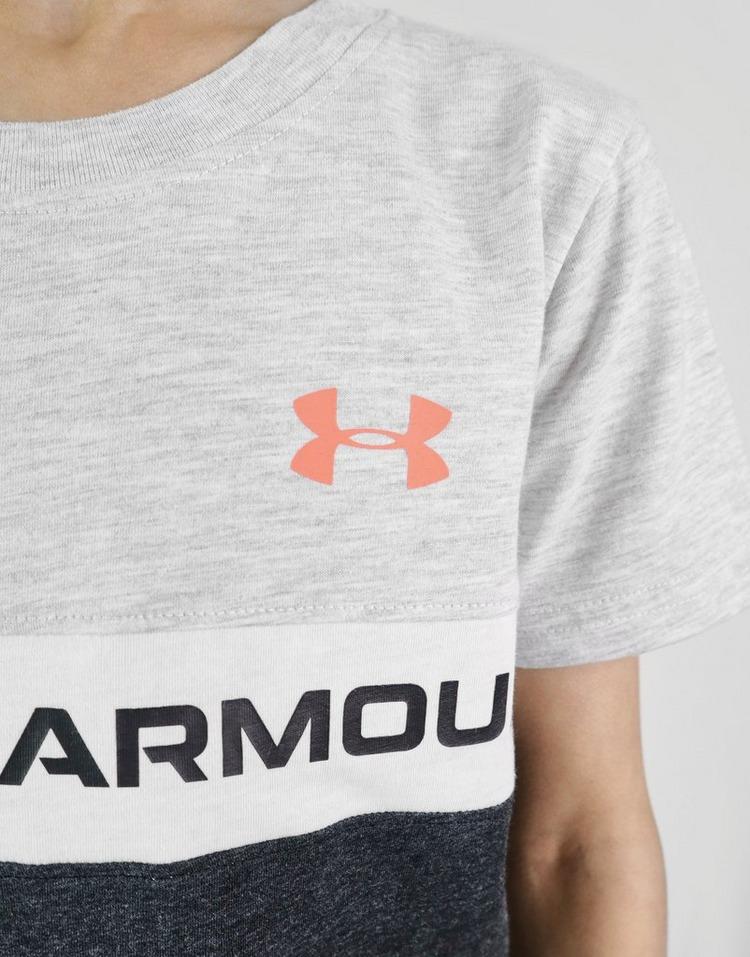 Under Armour Colour Block Panel T-Shirt/Shorts Set Children