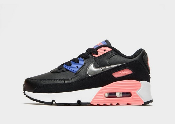 Nike Air Max 90 Leather Bambino in Nero | JD Sports