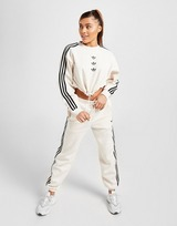 adidas Originals 3-Stripes Repeat Trefoil Crop Crew Sweatshirt