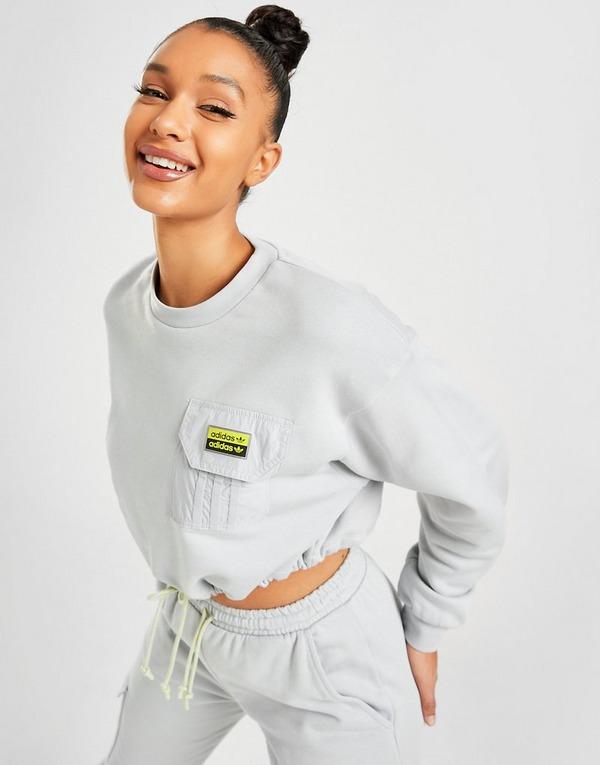 adidas Originals R.Y.V Utility Crop Crew Sweatshirt