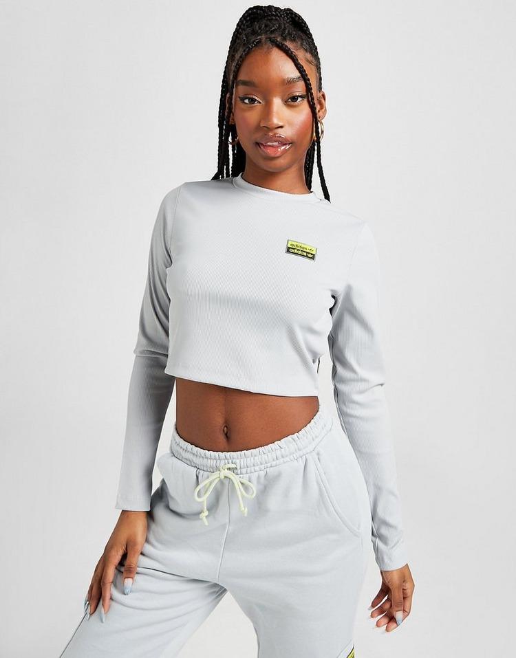 adidas Originals R.Y.V Utility Long Sleeve Crop T-Shirt