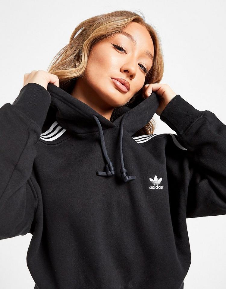adidas Originals 3-Stripes Adicolour Crop Hoodie