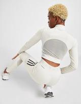 adidas 3-Stripes Mesh Crop 1/4 Zip Top Dame
