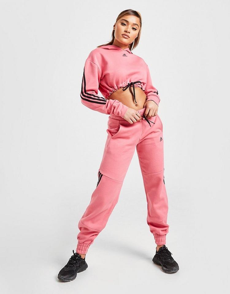 adidas 3-Stripes Micro Crop Hoodie
