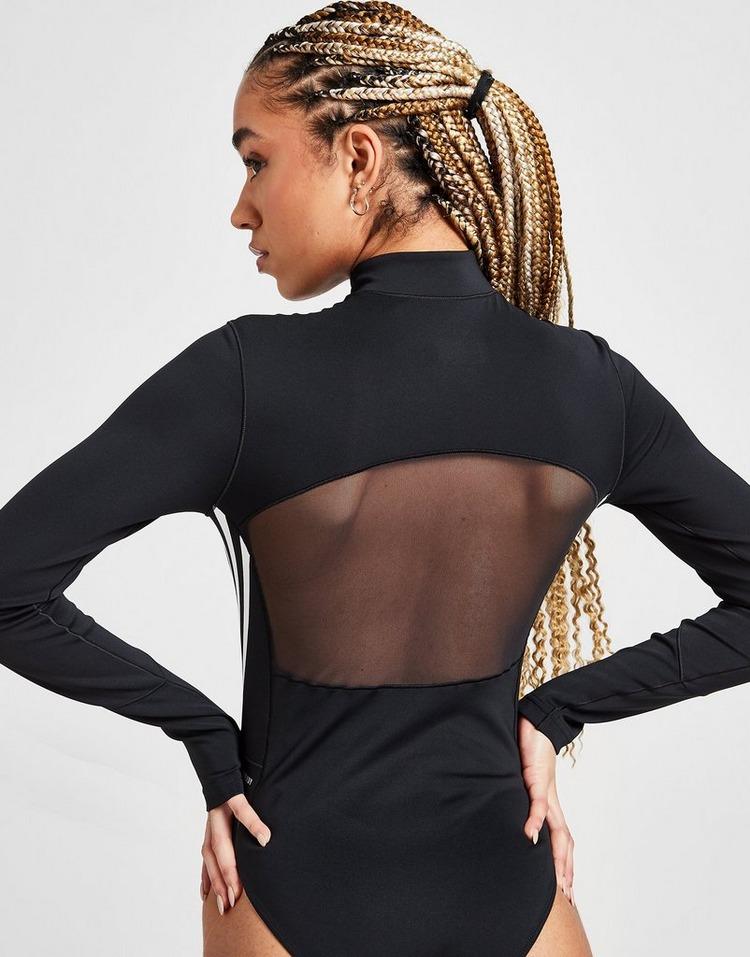 adidas 3-Stripes Mesh Long Sleeve Bodysuit
