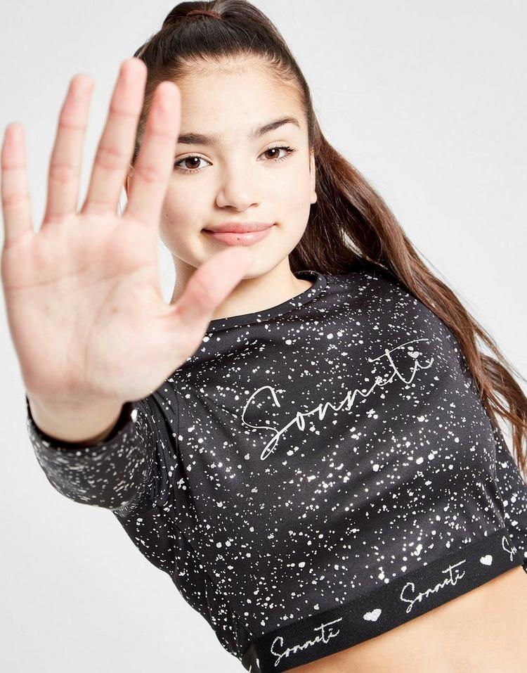 Sonneti Girls' Glitter Print Long Sleeve T-Shirt Junior