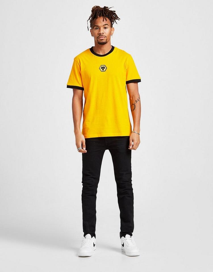 Official Team Wolverhampton Wanderers FC Crest Logo T-Shirt