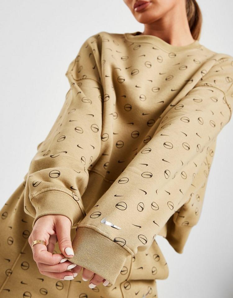 Nike Fleece Printed Crew Sweatshirt
