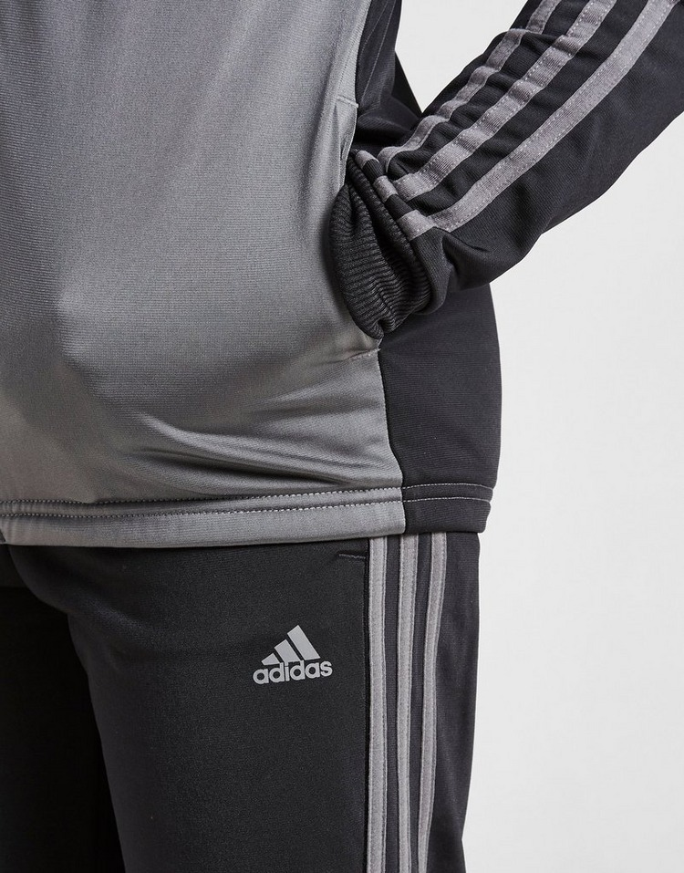 adidas 3-Stripes Poly Full Zip Tracksuit Junior
