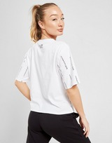 Emporio Armani EA7 All Over Print Logo Crop T-Shirt