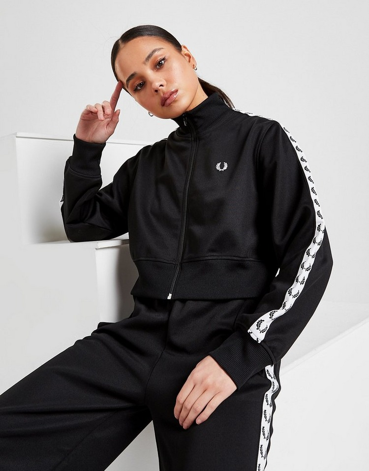 Fred Perry Tape Crop Track Jacket