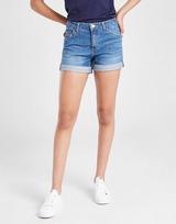 Levis Girls' Denim Girlfriend Shorts Junior