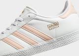adidas Gazelle J Wht/vapor Pnk$