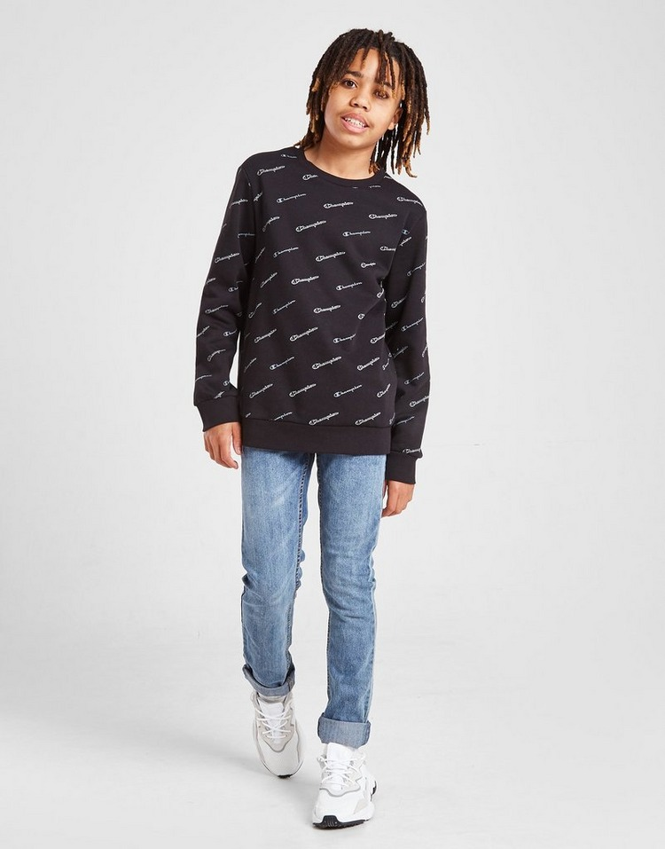 Champion All Over Fleece Crew Sweatshirt Junior