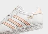 adidas Gazelle I Wht/vapor Pnk$