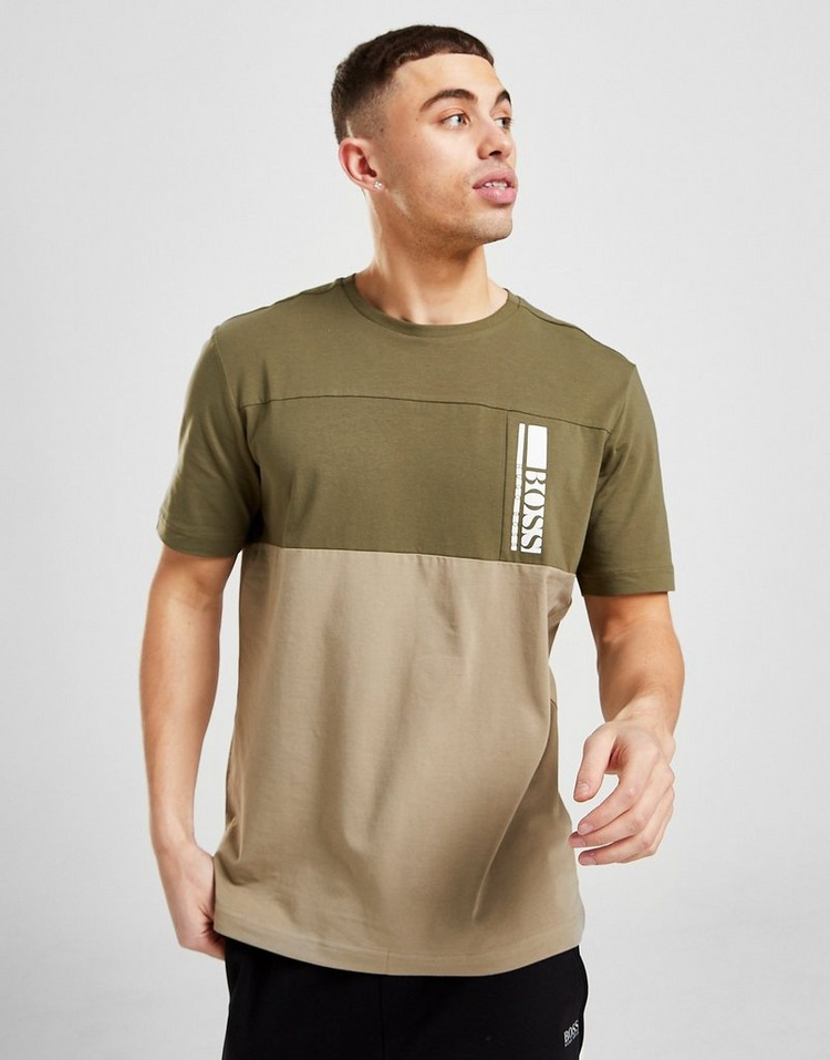 BOSS Colour Block Vertical Box T-Shirt
