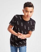 GUESS All Over Print Logo T-Shirt Junior