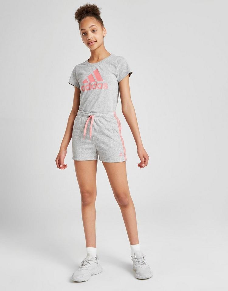 adidas Girls' Large Linear Logo T-Shirt Junior