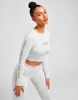 Puma evoKNIT Seamless Long Sleeve Crop T-Shirt