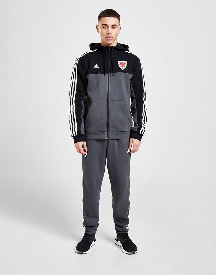 adidas Wales 3-Stripes Full Zip Hoodie