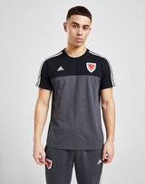 adidas Wales 3-Stripes Short Sleeve T-Shirt