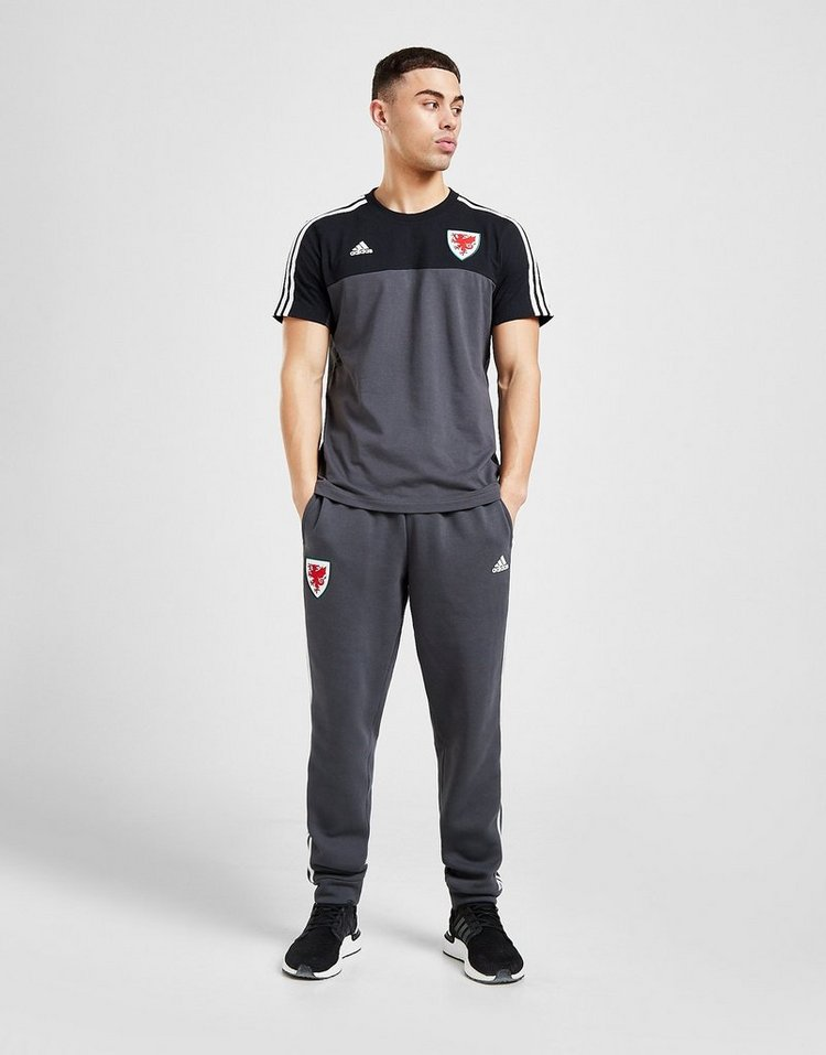 adidas Wales 3-Stripes Short Sleeve T-Shirt