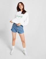 Levis Fade Logo Crop Crew Sweatshirt