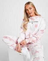 Pink Soda Sport Tie Dye Crop Crew Sweatshirt