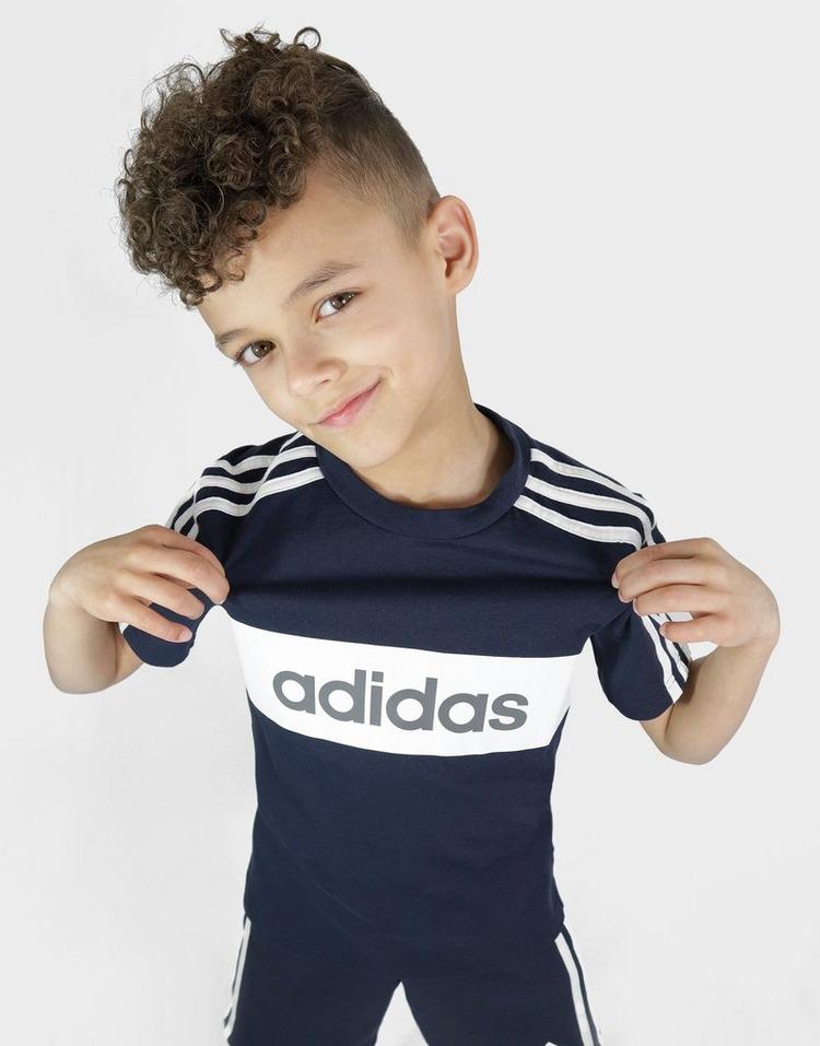 adidas Linear Essential T-Shirt/Shorts Set Children