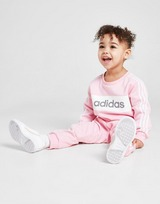 adidas Girls' Linear Essential Crew Tracksuit Infant