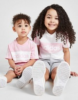 adidas Linear Essential T-Shirt/Shorts Completo Bambina