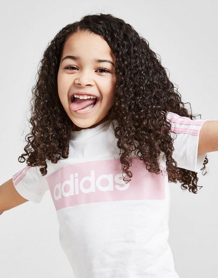 adidas Girls' Linear Essential T-Shirt/Short Set Children