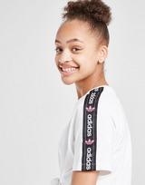 adidas Originals Girls' Tape Boyfriend T-Shirt Junior