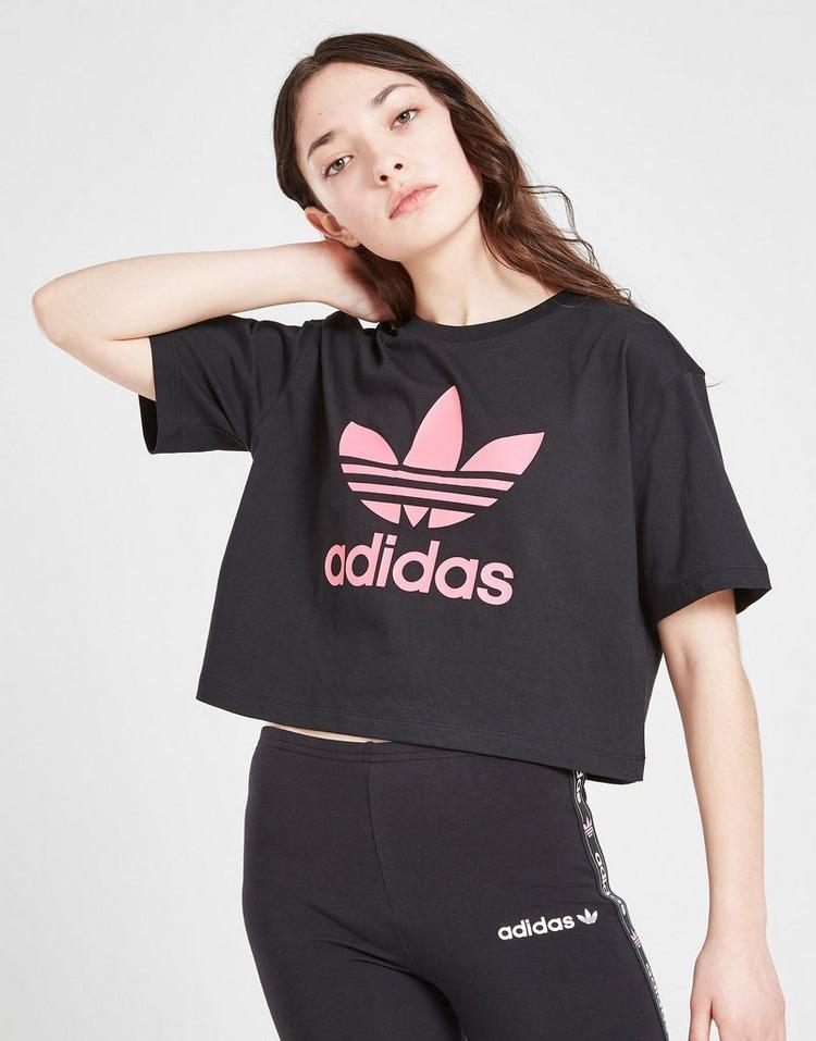adidas Originals Girls' Trefoil Crop T-Shirt Junior